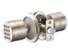 Laykor YL-99 Digital Keyless Electronic Door Lock, Satin Nickel by Laykor. $59.99. This beautiful, rigid design digital keyless lock requires no key to function. Comes in satin nickel finish with polished trim. Built with die-cast metal for durability.  - 50 event audit trail recording  - Anti spy code encryption  - Low battery waring with emergency power jump override  - Suitable for indoor and outdoor - No external wiring required  - Comes with 4 x AAA batteries