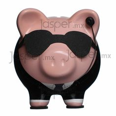 Alcancía cerdito de cerámica - Agente Secreto Little Kitty, This Little Piggy, Pig Bank, Personalized Piggy Bank, Travel Fund, Mini Pigs, Cute Piggies, Ideias Diy, Designer Toys