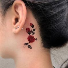 Each one is very beautiful rose tattoos. Kick tattoo team specially compiled rose tattoos with love for you ♥ Rose Tattoos For Girls, Tiny Tattoos For Women, Shoulder Tattoos For Women, Tattoos For Guys, Red Rose Tattoos, Sleeve Tattoos For Girls, Tattoos With Roses, Cherry Blossom Tattoos, Violet Flower Tattoos
