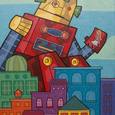 Robots Paintings by Gabe Lanza.