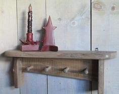 Rustic Handmade Coat Rack 4 Peg Weathered Oak by ModerationCorner Weathered Oak, Catalog, Rustic, Coat, Unique Jewelry, Handmade Gifts, Flowers, Etsy, Vintage