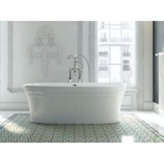 Victoria & Albert VWARNSW Warndon Unique Size Soaking Tub - White
