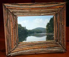 make your own rustic photo frames from twigs | Picture Frames Made From Sticks And Twigs - The Fun Times Guide to Log ...