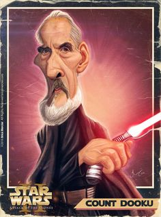 Caricature de Christopher Lee par Brice Mercier
