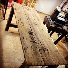 Rustic Barnwood End / Dinner Table :: Contact us at create@legacybuilding.org and we can start dreaming up your next handcrafted Legacy piece!