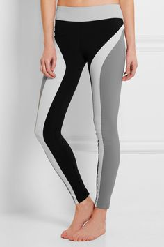 No Ka'Oi | Kolo paneled stretch-jersey leggings | NET-A-PORTER.COM