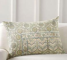 James Block Print Pillow Cover | Pottery Barn