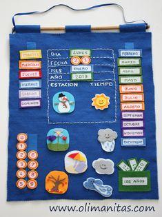 Daily School Calendar from Oriental Trading Company Kindergarten Activities, Learning Activities, Kids Learning, School Calendar, Kids Calendar, My Busy Books, Art For Kids, Crafts For Kids, Preschool Garden