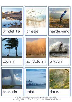 Woordkaarten over het weer.
