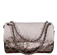 Chanel Jumbo Flap Bag Grey Black 639788661b801