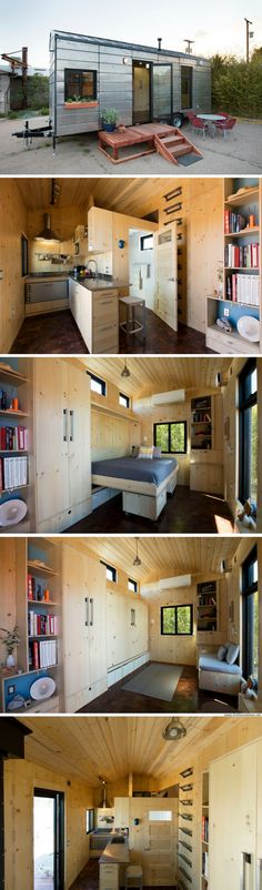 The Saltbox tiny house Tiny House On Wheels, Small House Plans, Tiny House Nation, Tiny Cabins, Micro House, Tiny House Movement, Tiny Spaces, Tiny House Living, Tiny House Design