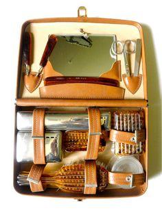 vintage 50s men 39 s grooming kit by progressive gentlemen 39 s leatherwear 12 pieces gentleman. Black Bedroom Furniture Sets. Home Design Ideas