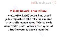 V škole hovorí Ferko Jožkovi - Spišiakoviny.eu