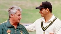 On May Hansie Cronje ran into the first of his many major troubles, when he plugged-in an earpiece, to receive instructions from coach Bob Woolmer, during South Africa World Cup Fixtures, First World Cup, World Cup Match, Cricket, South Africa, The Outsiders, Legends, Bob, Bob Cuts