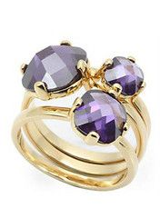 Amethyst Stackable Ring Set