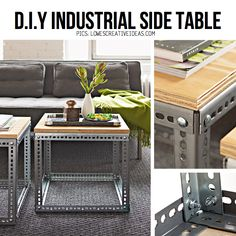 DIY Industrial table.  Rent-Direct.com - 100% No Broker Fee Rental Apartments in New York City.