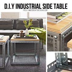 DIY Industrial table. Rent-Direct.com - 100% No Broker Fee Rental Apartments in New York City.