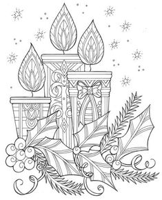 Free Adult Coloring Pages Christmas Luxury Enchanting Candles and Night Sky Christmas Coloring Page Mandala Coloring Pages, Coloring Pages To Print, Coloring Book Pages, Coloring Pages For Kids, Merry Christmas Coloring Pages, Christmas Coloring Sheets, Printable Adult Coloring Pages, Christmas Drawing, Theme Noel