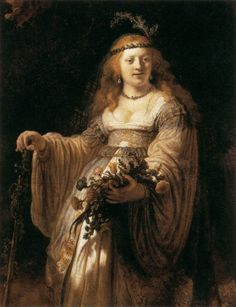 Saskia in Arcadian Costume by Rembrandt (1635)