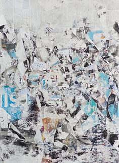 'Italics', original abstract collage by artist David Fredrik Moussallem I See more at http://www.saatchiart.com/art-collection/Painting-Photography-Collage/New-This-Week-4-6-15/153961/100632/view