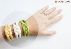 Hey, I found this really awesome Etsy listing at https://www.etsy.com/listing/158079310/french-knitted-cotton-bracelet-garden