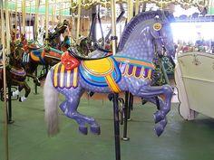 Antique Large Carousel Horse   Looff Carousel Horse, Santa Cruz Beach Boardwalk Amusement Park