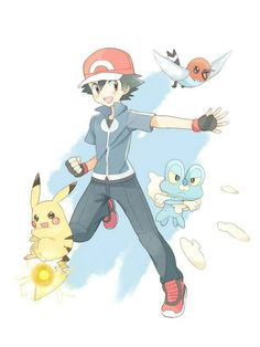 Ash Ketchum with his Pikachu, his Froakie and his Fletchling ^.^ ♡ I give good credit to whoever made this 👏 Ash Pokemon Team, Pokemon Ash Ketchum, Pokemon Alola, Pokemon Fan Art, Cute Pokemon, Pokemon Sketch, Ash And Misty, Pokemon Champions, Pikachu Art