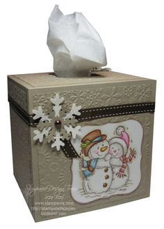 cardstock tissue box cover