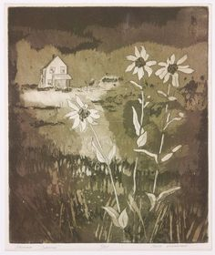 Mid Century Daisy Flower Etching Print Signed Numbered 4/25 #Vintage
