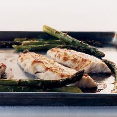 Delicate, sophisticated flavors come together almost effortlessly with the help of miso, a Japanese staple - Miso-glazed sea bass with asparagus