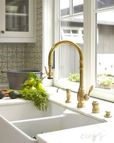 gold kitchen faucet design photos ideas and inspiration amazing gallery of interior design and decorating ideas of gold kitchen faucet in kitchens by - Gold Kitchen Faucet