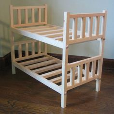 "Reserved For Timna Doll Bunk Bed For 18"" Doll. Stacking Doll Bed For 15"" To 18""…"