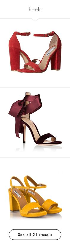 """heels"" by harthkai on Polyvore featuring shoes, sandals, steve madden sandals, low shoes, steve madden shoes, steve madden, low sandals, heels, open toe high heel sandals and gianvito rossi shoes"