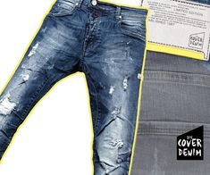 distressed denim with patches & extreme washings
