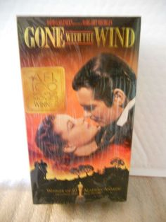 GONE WITH THE WIND TECHNICOLOR VHS 2 TAPE BOXED SET NEW IN ORIGINAL PACKAGING