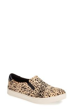 Dr. Scholl's Original Collection 'Scout' Calf Hair Slip On Sneaker (Women) Speckled Pony Size 7.5 M
