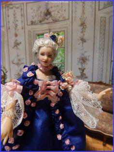 Madame de Pompadour d'après F. BOUCHER. Les Miniatures de Béatrice