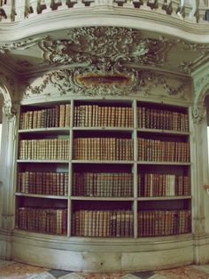 I'd want a huge bookcase in my dream house. Beautiful Library, Dream Library, Beautiful Homes, Library Wall, Beautiful Buildings, Home Libraries, Book Nooks, Reading Nooks, Antique Books
