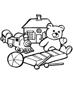toys coloring pages - Toy Coloring Pages