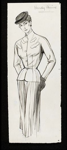 Fashion drawing   Fromenti, Marcel   V  Collections