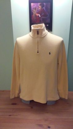 08614c88dbe Vintage Faded Yellow Polo Half Zip Sweater By Ralph Lauren by  VintageMixWest on Etsy Half Zip
