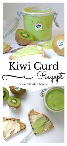 Lemoncurd, Rhabarbercurd, Orangencurd... der cremige Aufstrich kommt mit vielerlei Geschmäcker daher. Bei mir heute zum Beispiel mal in schickem Grün mit leckerer Kiwi. So schmeckt der Frühling