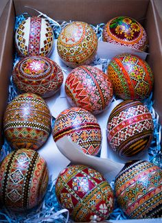 LOOK: Ukranian Easter Eggs, Are Unbelievably Elaborate Ukrainian Easter Eggs, Ukrainian Art, Egg Crafts, Easter Crafts, Easter Projects, Pagan Symbols, Carved Eggs, Motifs Perler, Egg Designs