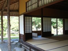 Katsura Imperial Villa, Kyoto, Japan.  Most modern architectural styles can be traced back to ancient Japanese architecture for simple, linear lines and open air framing of spaces.