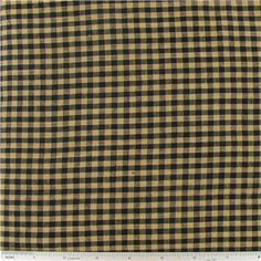 Black & Tan Homespun Basic Check Fabric | Shop Hobby Lobby