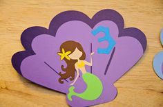 Mermaid Invitations - Create a critter and under the sea cartridges