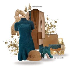classy in camel, created by tammielou1958 on Polyvore