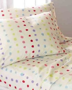Perfect for lazy Sundays in bed when the sun is streaming through your window and Seamless is on its way. PERCALE RAINBOW DOUBLE SET, $98, MORGAN & MILO, GARNETHILL.COM