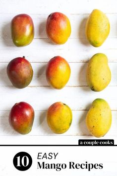 These mango recipes are the best ways to eat this juicy sweet fruit! It works well in both savory and sweet recipes like salsa, tacos, smoothies, chili and more.  | recipe roundup | mango recipes |  #mangos #mangorecipes #mangorecipe #mangosalsa Easy Mango Recipes, Mango Salsa Recipes, Strawberry Recipes, Apple Recipes, Sweet Recipes, Healthy Food Options, Easy Healthy Recipes, Veggie Tacos, Couple Cooking