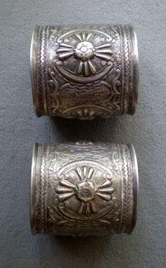 Africa   Huge old silver anklets from Algeria   ©Alaa eddine SAGID, via Ethnic Jewels